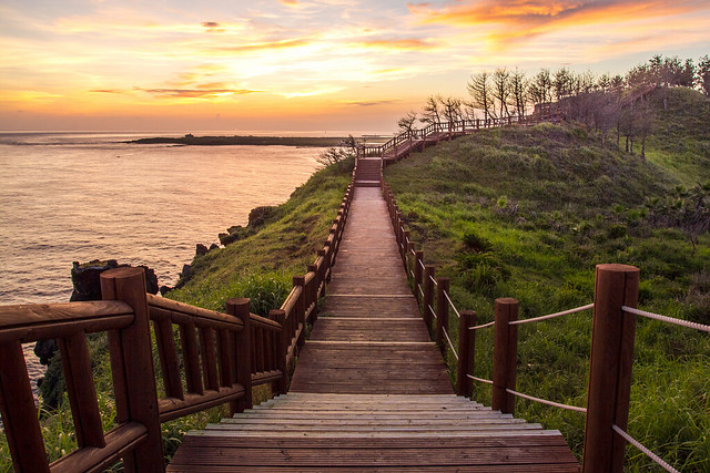 olle tour trail #10 at sunset, Jeju Island