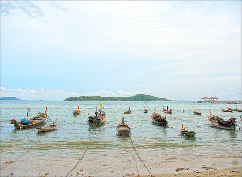 Longtail boats at Rawai Beach