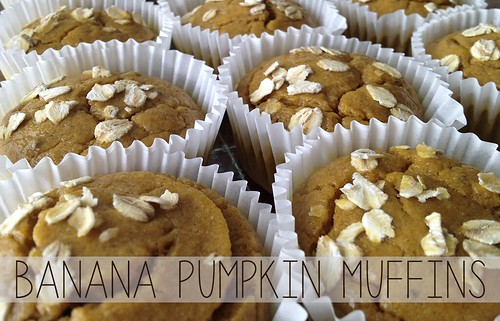 Banana Pumpkin Muffins by Digital Heather
