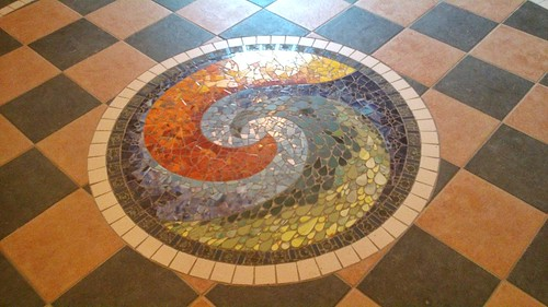Celtic spiral mosaic by Laura O'Hagan, artist, Oratory of the Sacred Heart