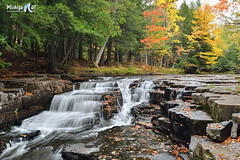 Quartzite Falls Upper Michigan by Michigan Nut