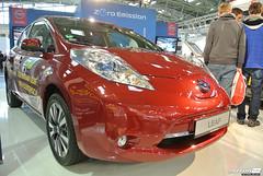 automobile, vehicle, nissan leaf, automotive design, auto show, electric car, city car, nissan, land vehicle,