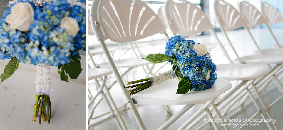 22 Blue Wedding Bouquet