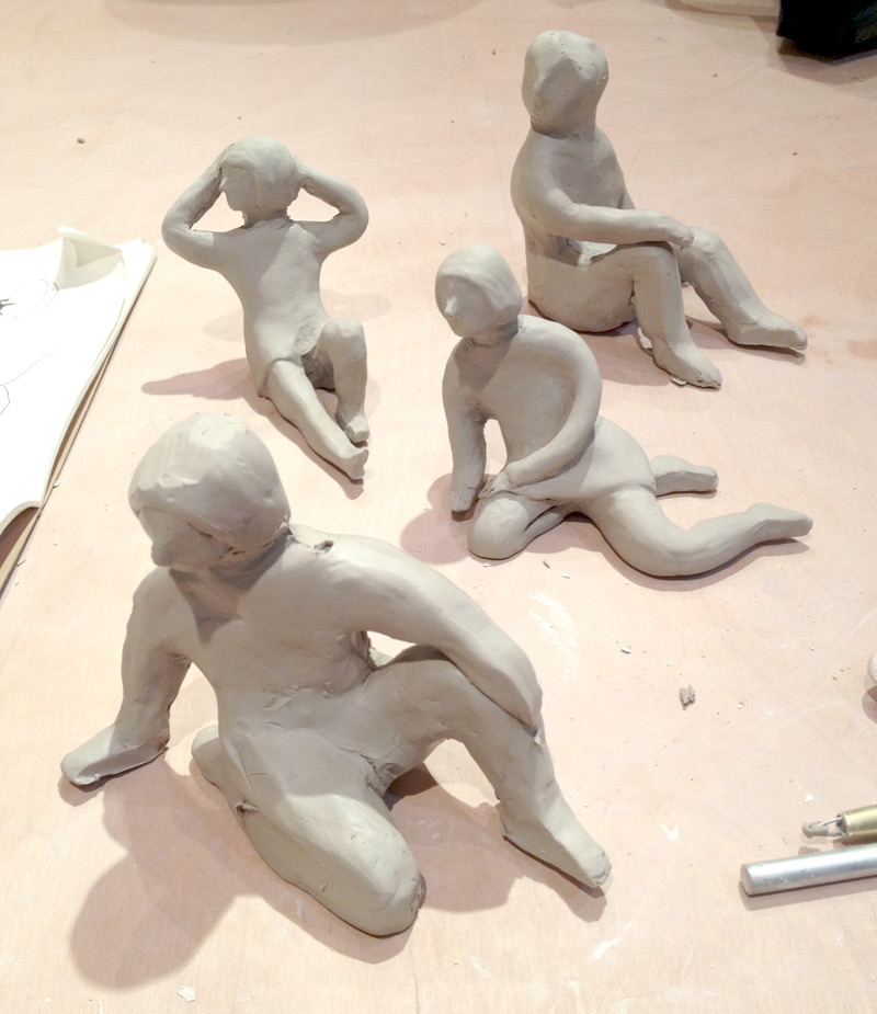 sculpturegirlsinprogress
