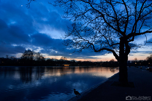 London Hyde Park sunset