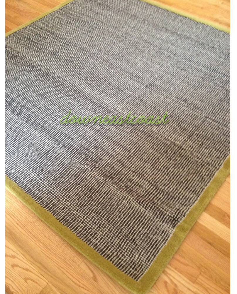 Black And White Rug Ebay Uk: NEW Crate And Barrel CB2 TWEED Camo Rug 6x6 Black White