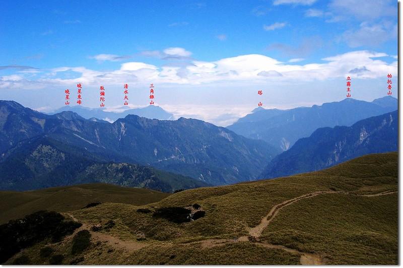 北合歡山東眺太魯閣方向群山 2