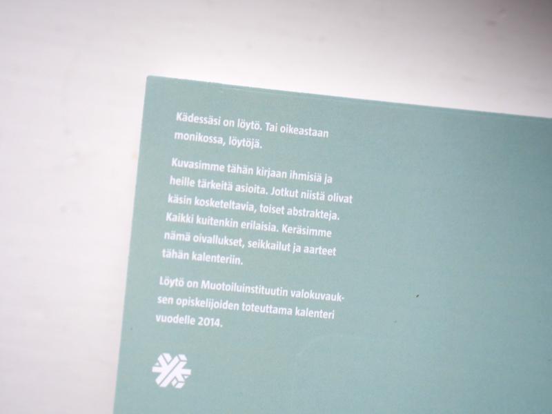lahden muotoiluinstituutin opiskelijoiden kalenteri 2014
