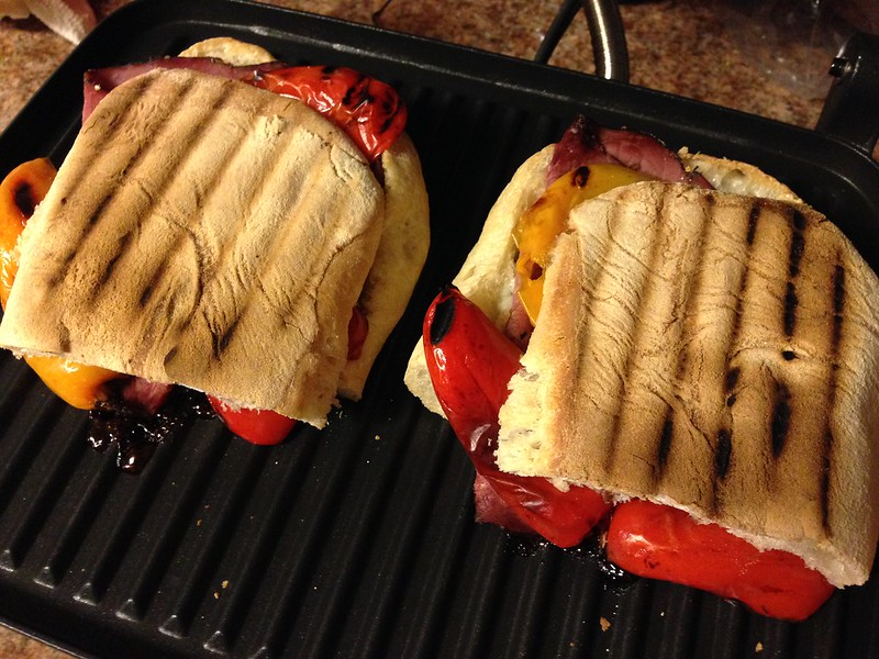 Crisp hot ciabatta sandwiches!