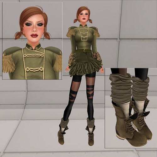 Cadet Couture [Olive] by ElaraGloriana Scrabblebat
