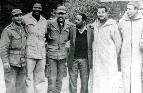 Nelson Mandela, founder of Um Khonto we Sizwe, the armed wing of the ANC, received military training at an Algerian FLN camp in Morocco in early 1962. by Pan-African News Wire File Photos