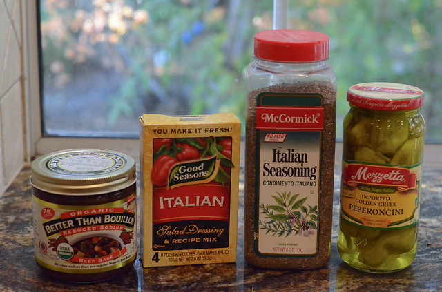 Ingredients on a kitchen counter.