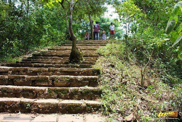 The climb on the way back from Soochipara Waterfalls, also known as Soochipura Waterfalls, Vellarimala, Wayanad, Kerala, India