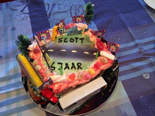Scott's birthday cake, he is 6 years old already!