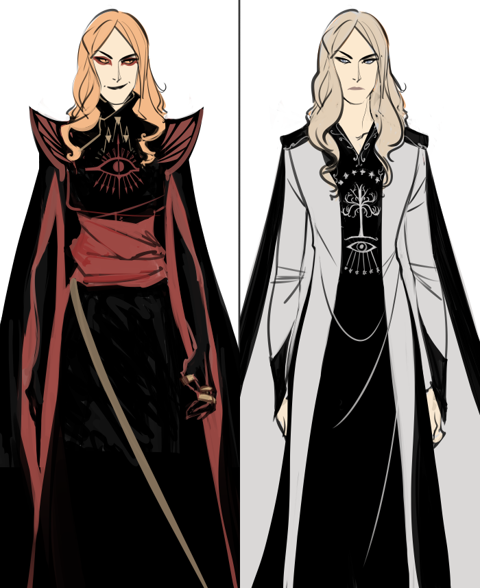 angband and numenor sauron fast sketches