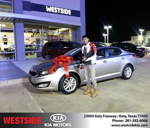 Thank you to Ruben Preciado on your new 2013 #Kia #Optima from Alexander Boykin and everyone at Westside Kia! #NewCarSmell by Westside KIA