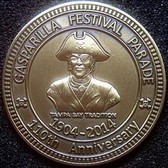 Gasparilla Festival 110th anniversary medal