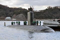 USS Tucson (SSN 770) arrives at Fleet Activities Yokosuka Jan. 10. (U.S. Navy photo by Mass Communication Specialist 2nd Class (EXW) Sebastian McCormack)