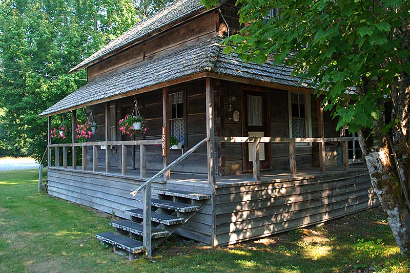 Norwegian Heritage House, Hagensborg, Bella Coola Valley, Coast of Central British Columbia