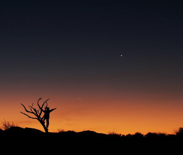 3 planets conjunction (Namibia, Khomas Highland)