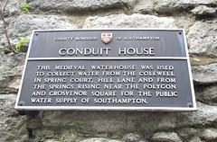 Photo of Conduit House bronze plaque