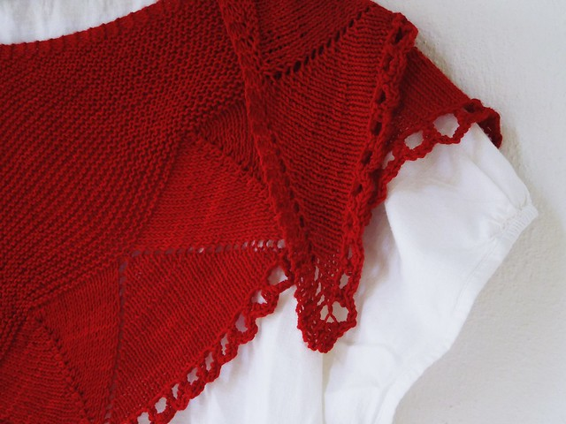 Damson shawl in Wollmeise Twin Ruby Thursday