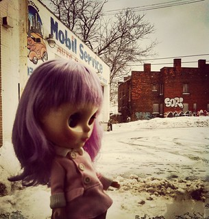 Picked up my birthday lavender hug in downtown detroit..now lets get you home over the canadian border pretty girl