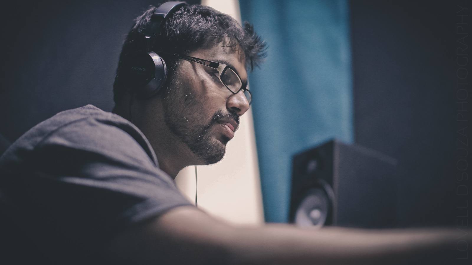 Recording at Nash's Studio