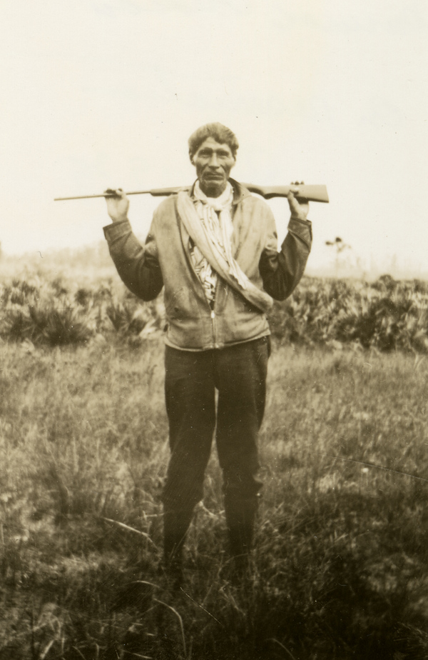 Unidentified Seminole guide in Estero, Florida