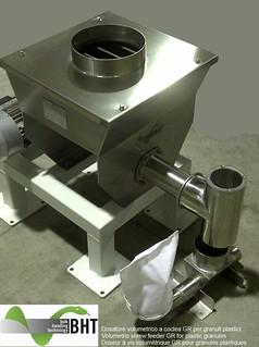 Dosatore a coclea volumetrico GR per granuli plastici