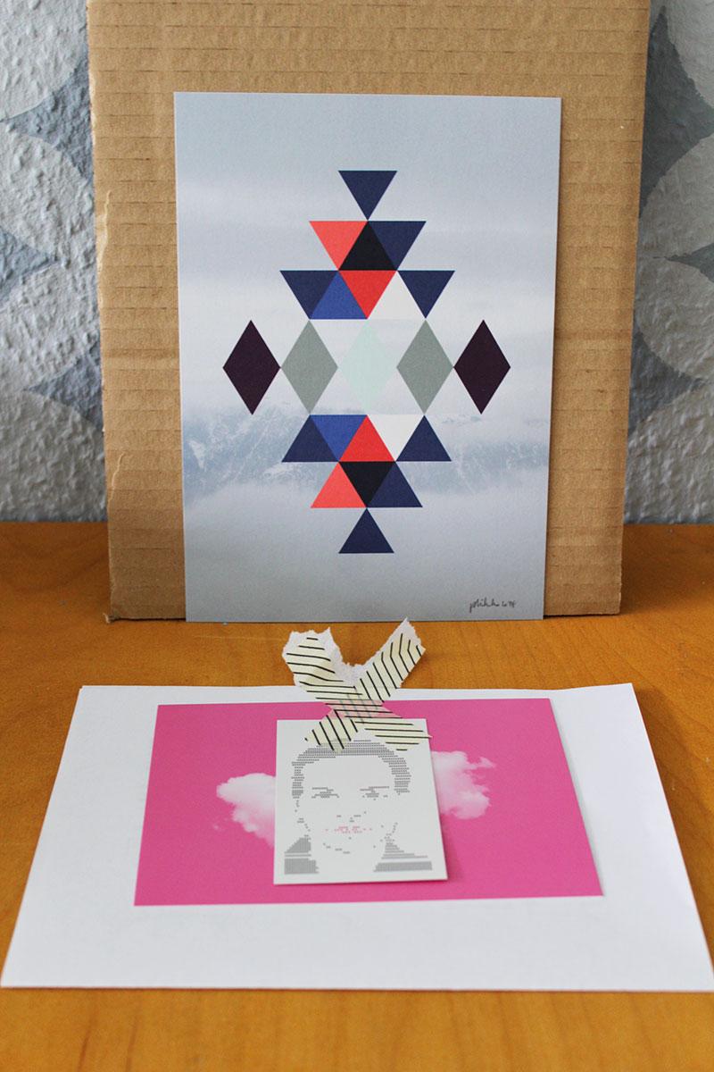 Foto Print Kelim mit Grußpostkarte von philuko