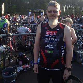 Me before the triathlon this morning.