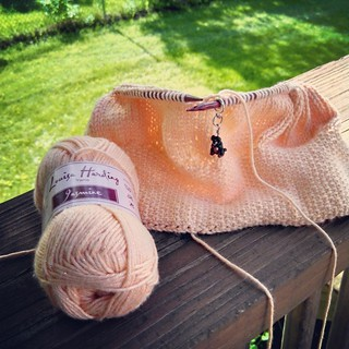 First skein down... #knitstagram #instaknit #LouisaHarding #yarn #jasmine #summerknits
