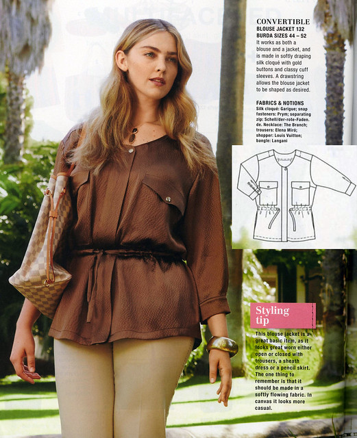 Burda-June-2014_Plus Size Blouse Jacket