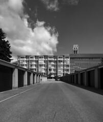 hans christian hansen, architect: tagensbo kirke / church, copenhagen 1966-1970