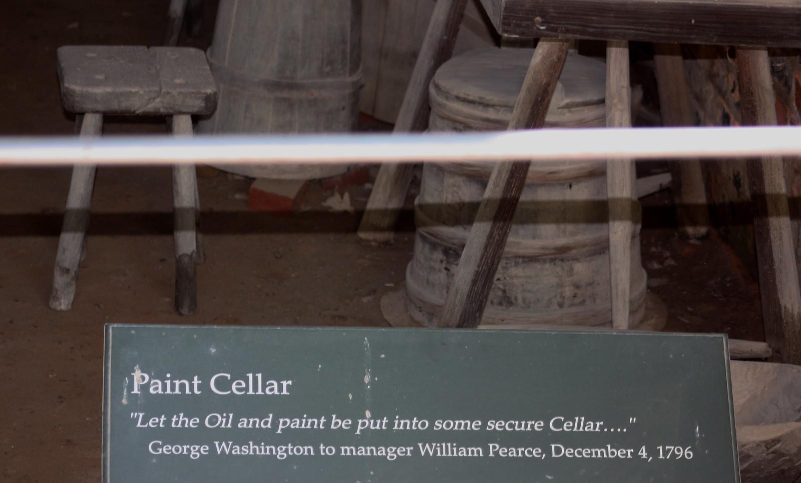 Mount Vernon Paint Cellar