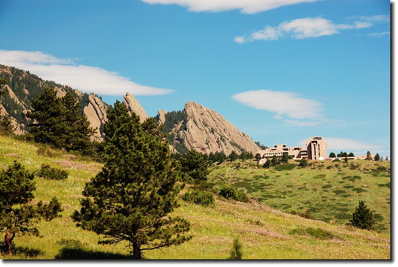 Overlooking NCAR from trailhead 2