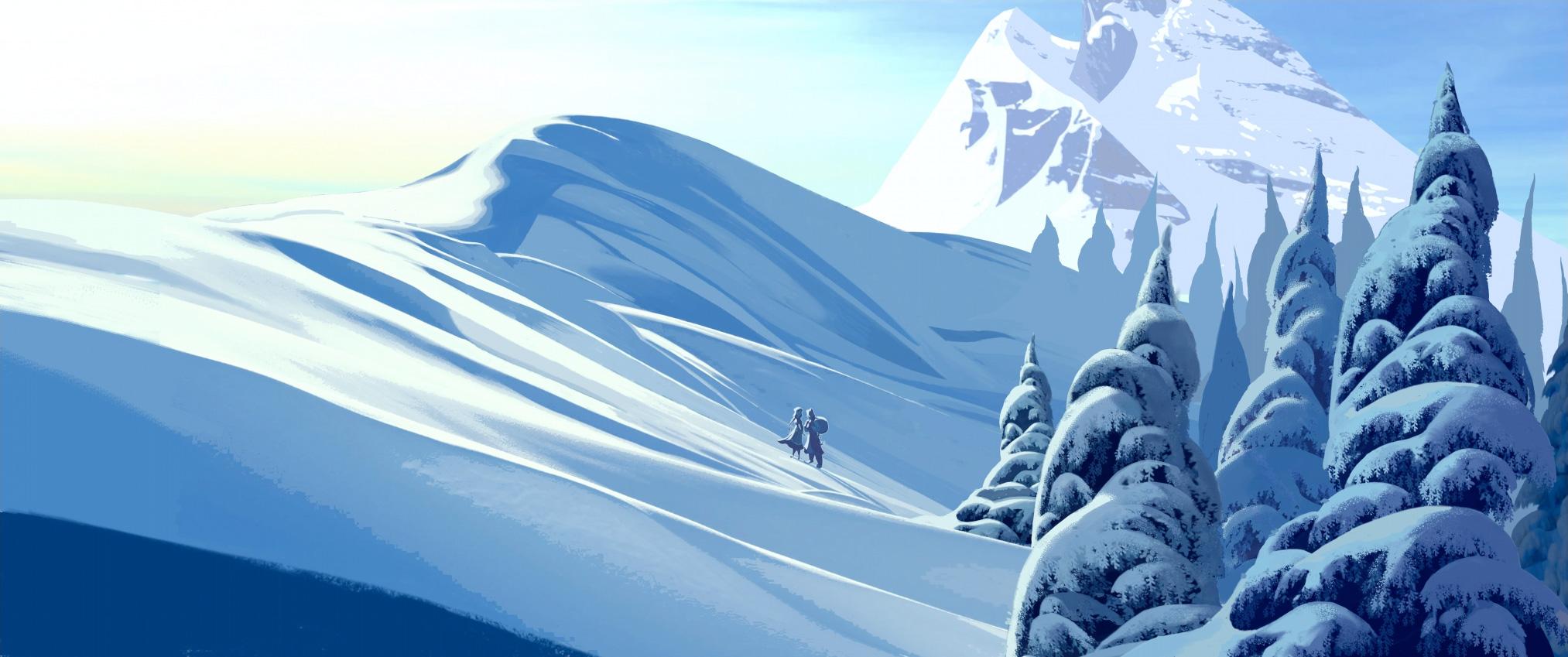 Disney_Frozen_Concept_Art El arte conceptual de Frozen
