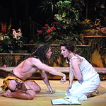 Arvada Center Tarzan pictured L-R Brian Ogilvie (Tarzan), Jennifer Lorae (Jane) photo P. Switzer 2014 -