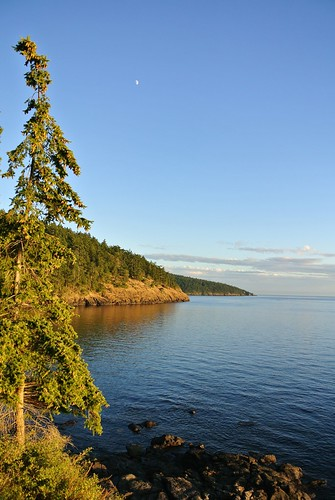 Tour 2014 day 3 - Magic hour on the edge of Fidalgo Island