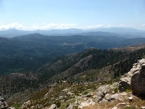 Sommet de Punta di I Cavalletti : vue d'Aullène