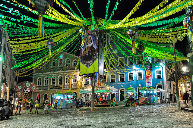 A Night in Pelourinho, Salvador, Bahia, Brazil
