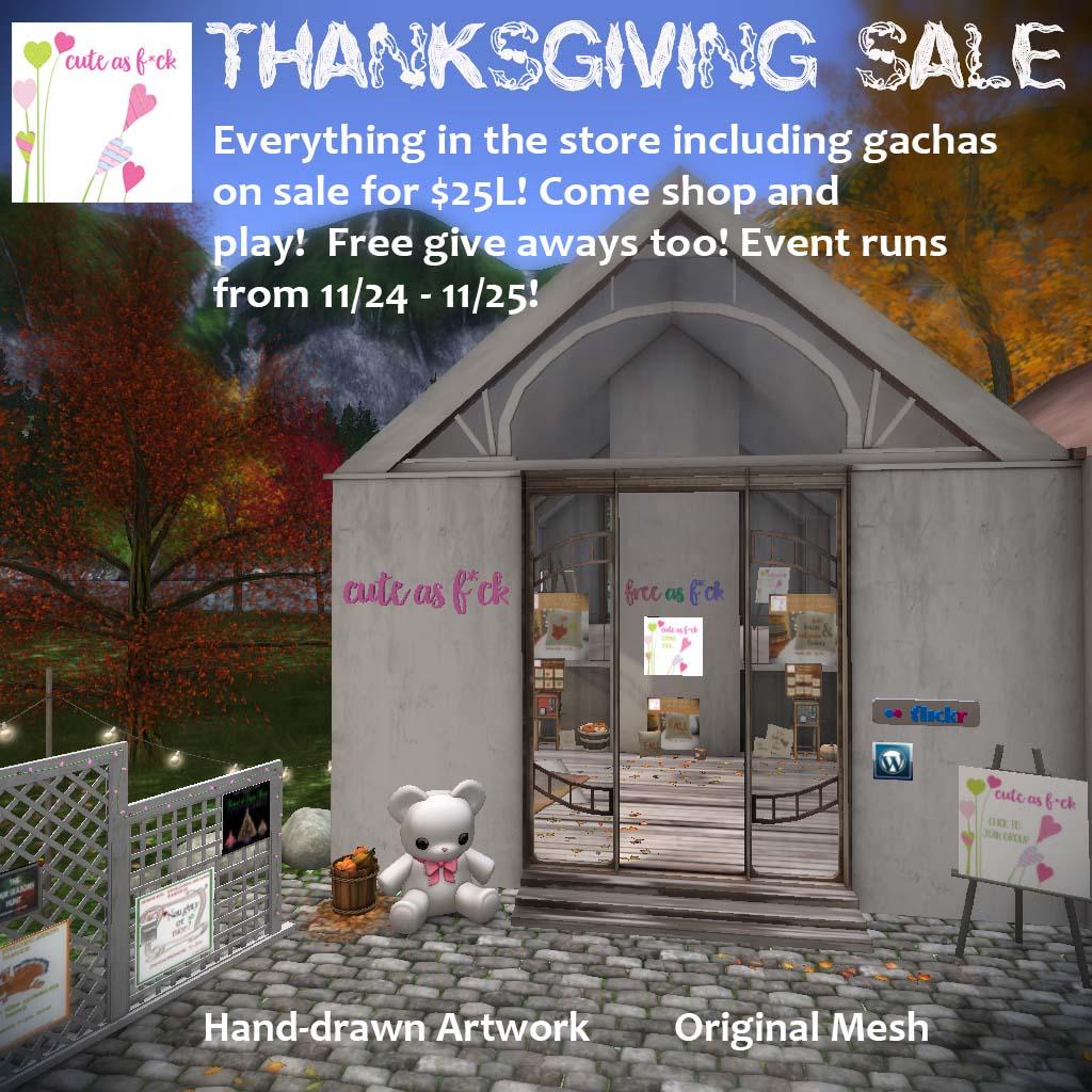 ::cute as f*ck:: Thanksgiving SALE - SecondLifeHub.com