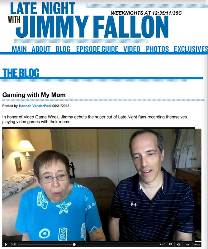 Gaming with My Mom - Show Clips - Late Night with Jimmy Fallon
