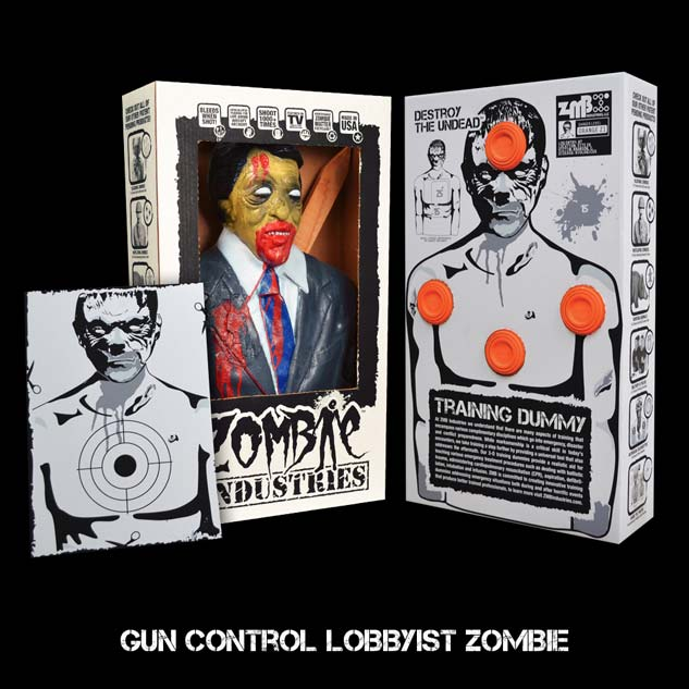 Zombie Gun Control Lobbyist Target