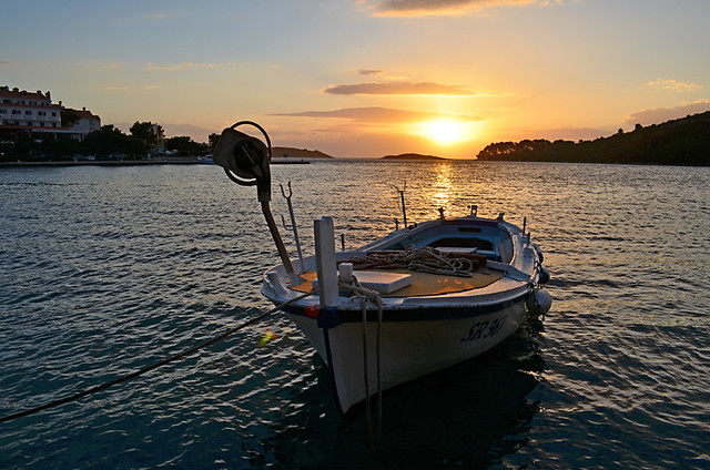 Sunset on Mljet, Croatia