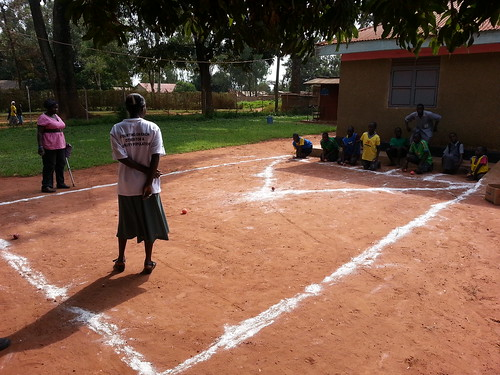 A game similar to bocce ball, children with disabilities enjoy at GDPUs inclusive disability sports day