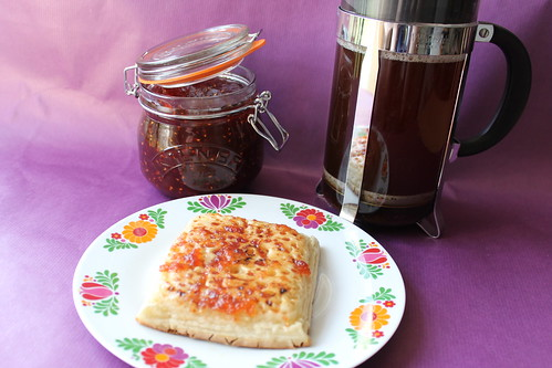 Peach and raspberry jam