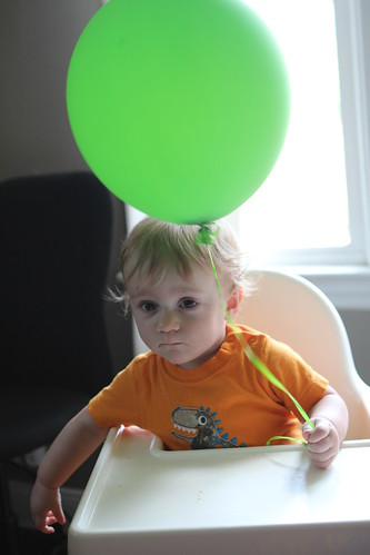Martin Sadly Holding Balloon