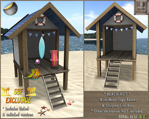 RnB Mesh Beach Hut 1 & Sculpted Life Buoy - SBF EXCLUSIVE